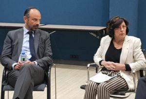 Sylvie Brunet et Edouard Philippe premier ministre