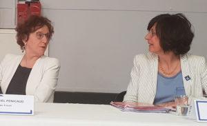 Sylvie Brunet et Muriel Penicaud ministre du travail