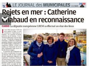 Article La Provence Catherine Chabaud - Sylvie Brunet rejets en mer enjeux environnementaux